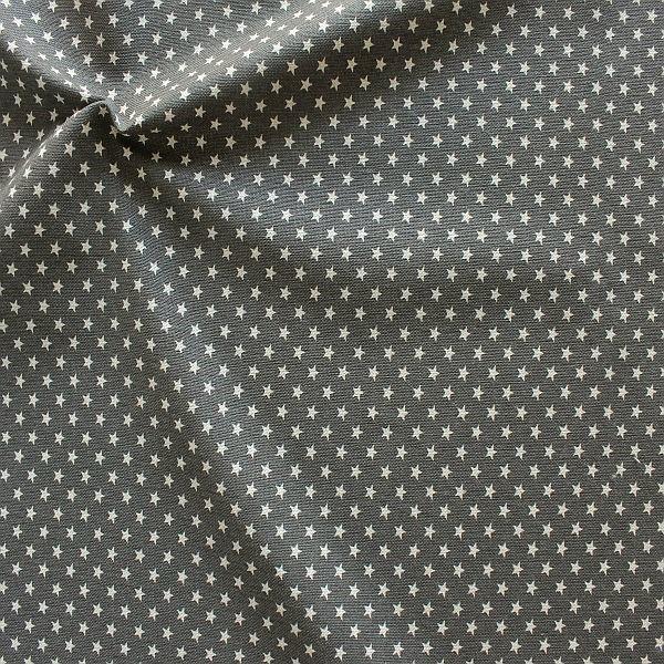 Dekostoff Vintage Sterne Grau