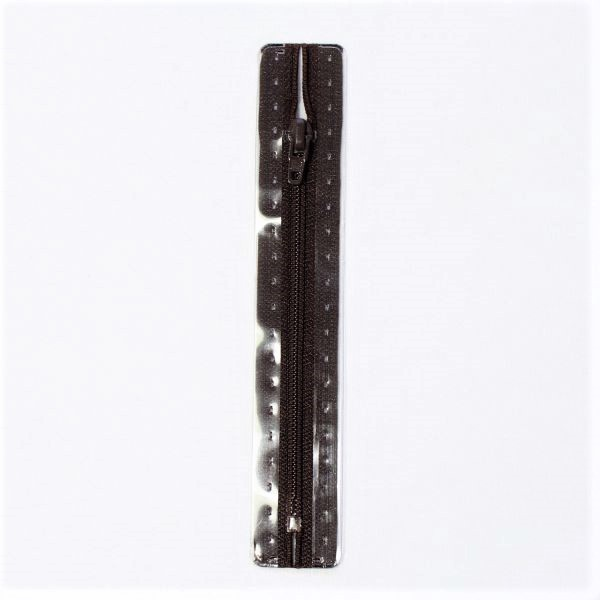 Reißverschluss S1 Typ 12 cm Dunkel-Braun