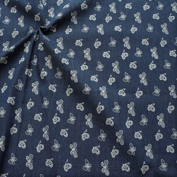 Stretch Denim Jeans Schmetterlilgs Mix Dunkel-Blau