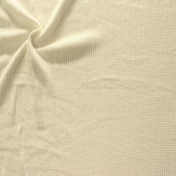 Strickstoff Rippenstrick Creme-Weiss
