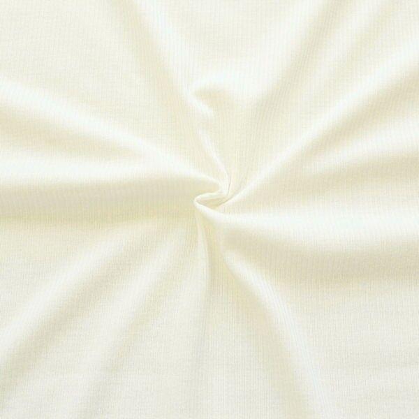 Cotelé Viskose Jersey Rippstrick Optik Creme-Weiss