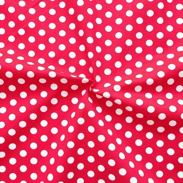 Baumwollstoff Punkte Rot