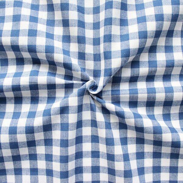 100% Baumwollstoff Züchen Vichy Karo groß Farbe Blau-Weiss