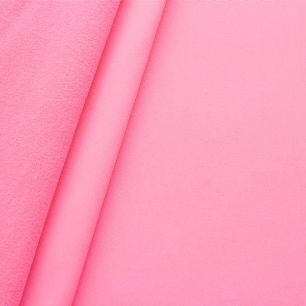 Softshell Fleece Stoff Rosa
