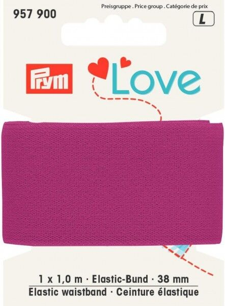 Prym Love 1m Elastic-Bund 38mm breit pink