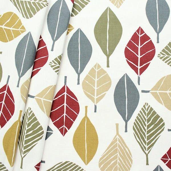 "Design Dekostoff Halbpanama ""Fall Vintage"" Farbe Creme-Weiss"