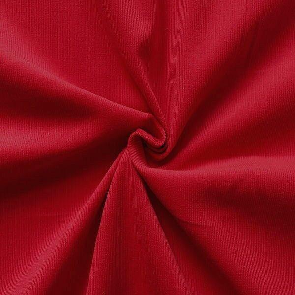 "100% Baumwolle Feincord Babycord ""Fashion Classic"" Farbe Rot"