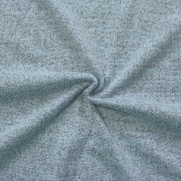 Feinstrick Jersey Artikel Sofia Farbe Hell-Blau meliert
