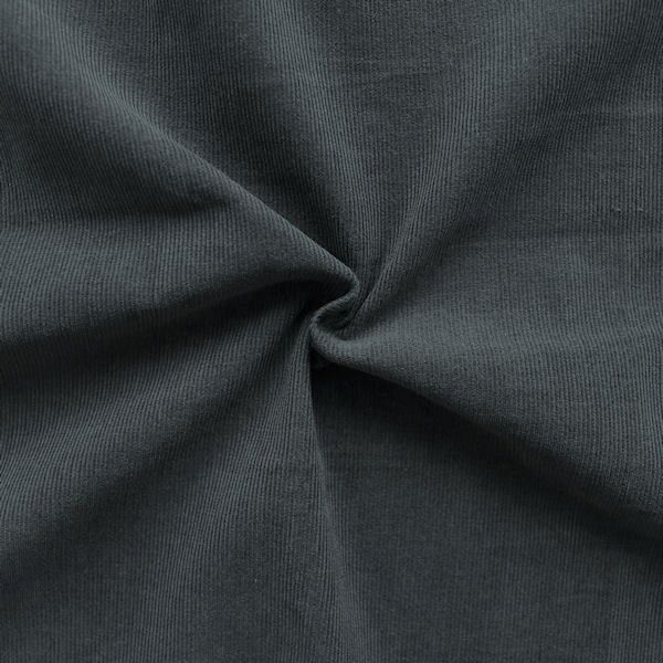 "100% Baumwolle Feincord Babycord ""Fashion Classic"" Farbe Dunkel-Grau"