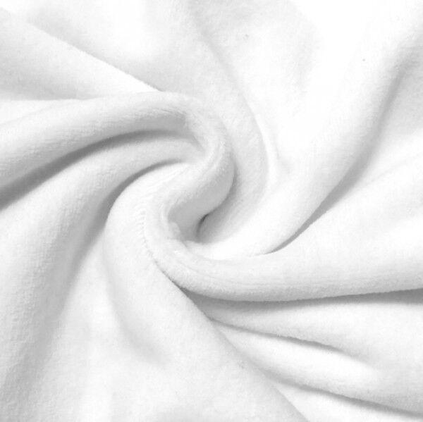 Nicki Baumwollstoff Farbe Weiss