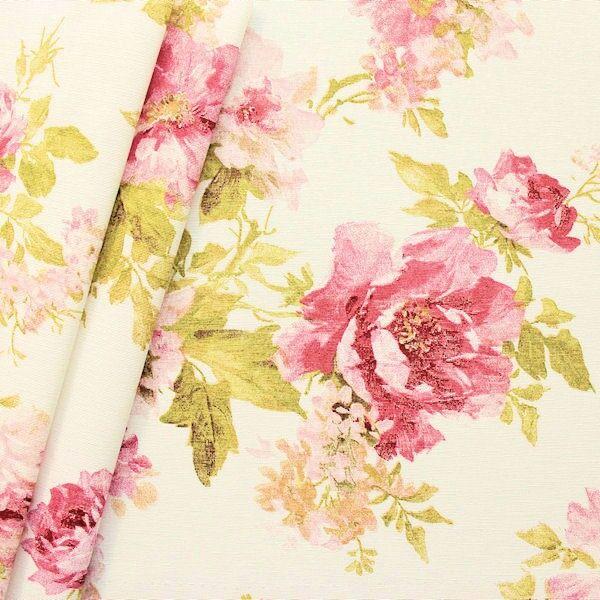 70 /% Seide leichter Seidenstoff Rosenblüten 110 cm breit Meterware