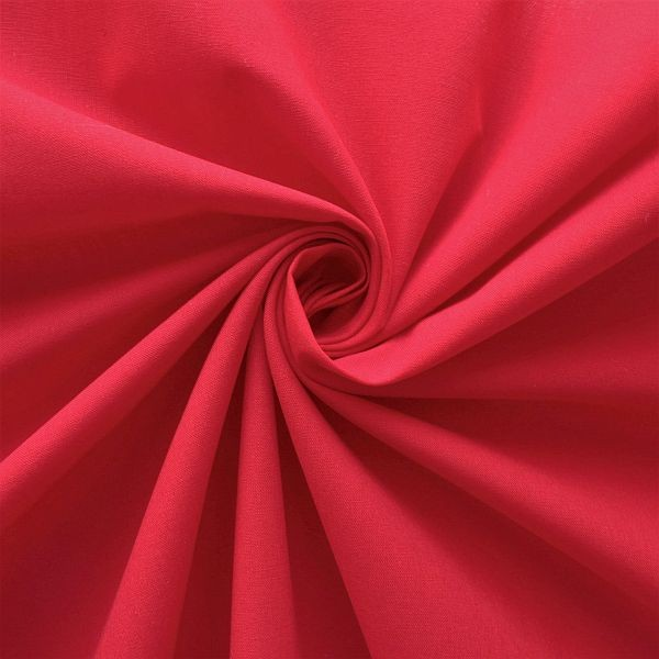 Baumwolle Popeline Rot