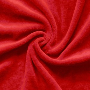 Roter Nicki-Baumwollstoff