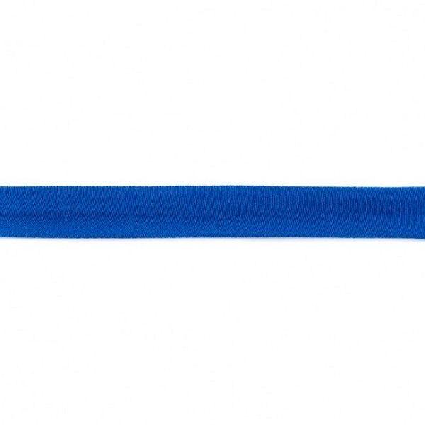 Baumwolljersey Schrägband Breite 20mm Farbe Royal-Blau