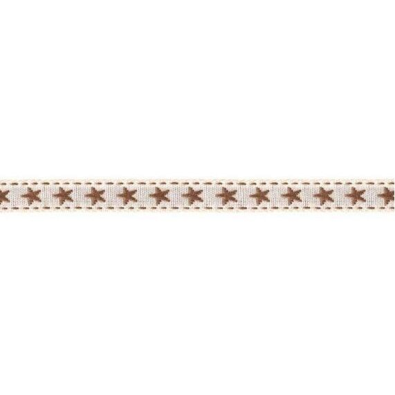 Prym Borte mit Stern 10mm x 2m (Breite / Länge) beige / braun