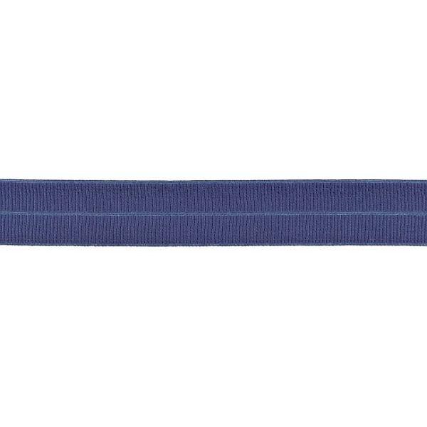 Elastisches Einfassband gerippt Jeans-Blau