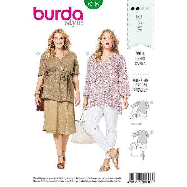 Shirt, Tunika, Gr. 46 - 56, Schnittmuster Burda 6306