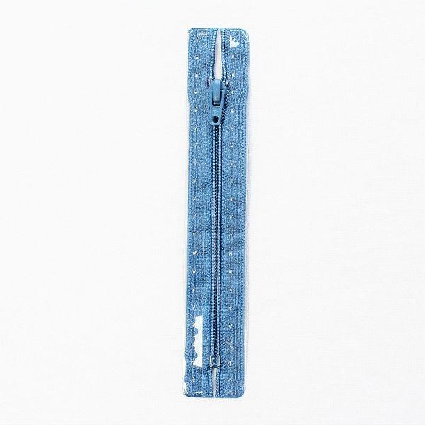 Reißverschluss S1 Typ 12 cm Azur-Blau