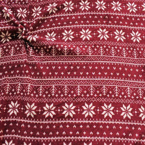 Wellness Fleece Winter Norweger Style Weinrot