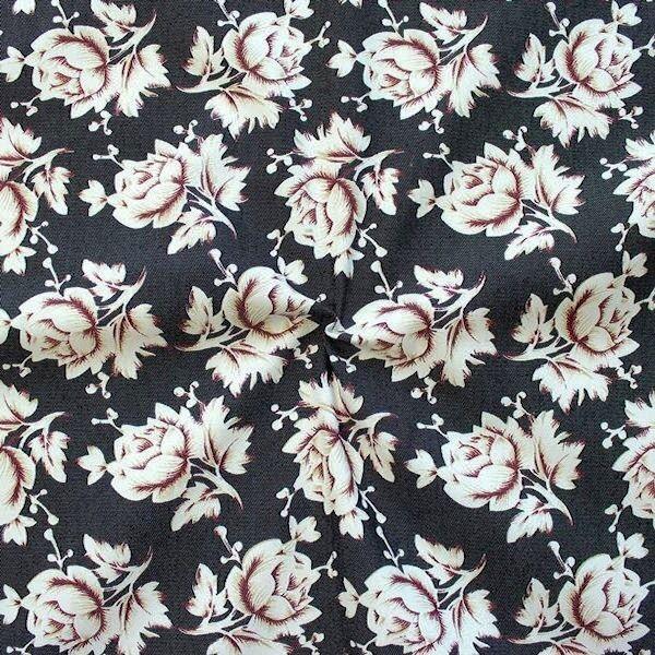 Jeansstoff mit Rosendruck für stylische Kissenhüllen