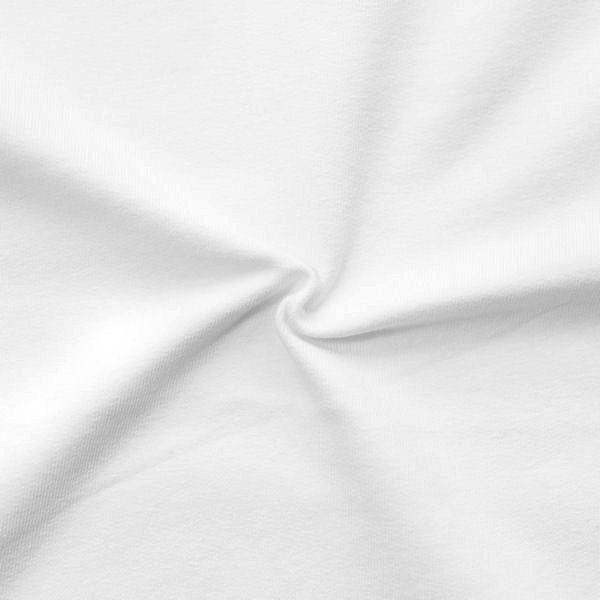 """Sweatshirt Baumwollstoff French Terry """"Fashion Basic 2"""" Farbe Weiss"""