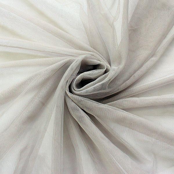 Braut Tüll Soft Touch Grau