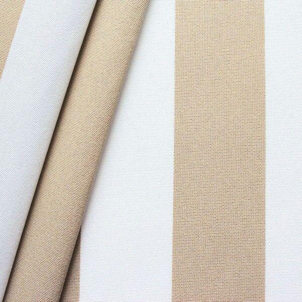 Markisenstoff Outdoorstoff Streifen Beige Weiss