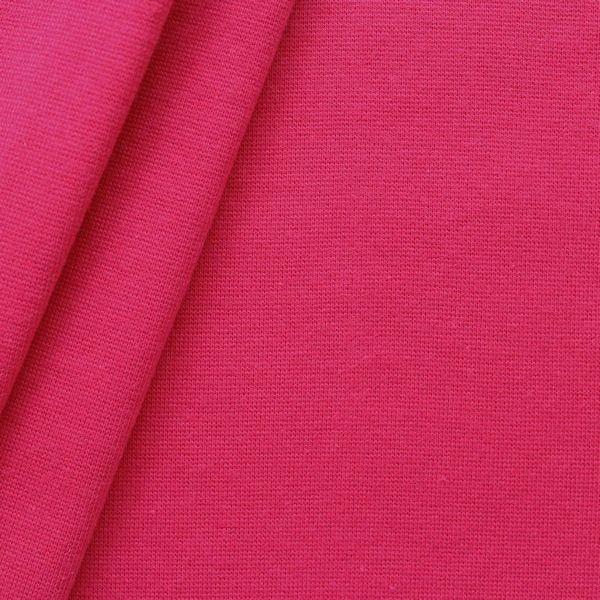 Baumwoll Bündchenstoff glatt Fuchsia