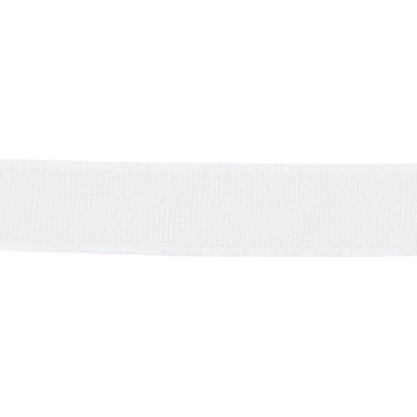 Klett Hakenband selbstklebend 25mm Weiss