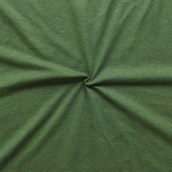 Baumwoll Stretch Jersey Dunkel-Grün melange
