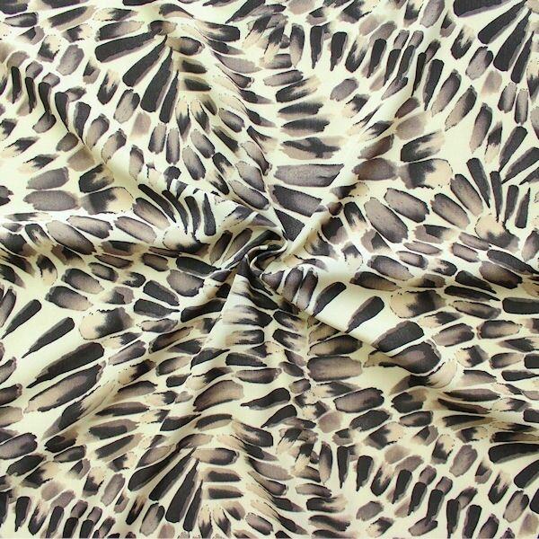 """Modestoff """"Wild Pattern"""" Farbe Beige-Braun"""