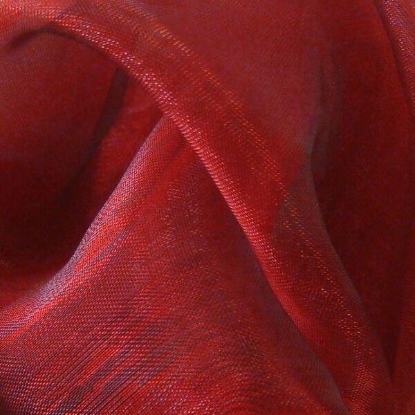 Organza Two Tone Farbe Karmin-Rot