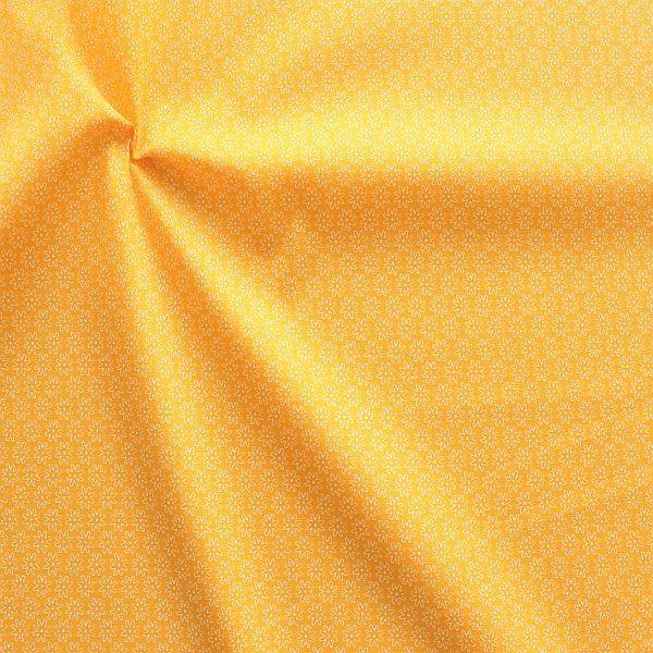 Baumwollstoff Sternblüten Gelb