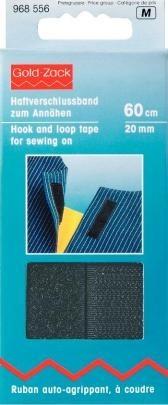Prym Haftverschlussband zum Annähen 20mm breit schwarz