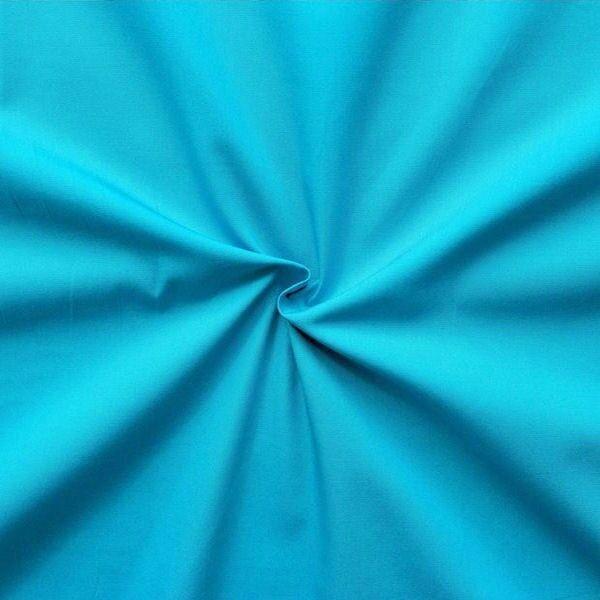 100% Baumwolle Popeline Türkis-Blau