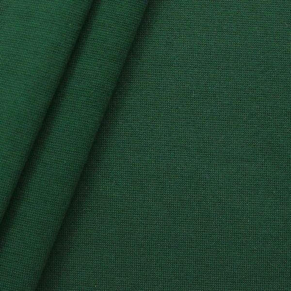 "Baumwoll Bündchenstoff ""glatt"" Farbe Dunkel-Grün"