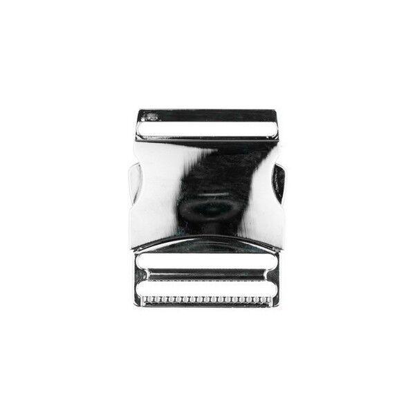 Metall-Steckschnalle 40mm Farbe Silber