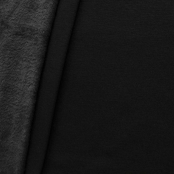Alpenfleece Sweatshirt 2 Farbe Schwarz