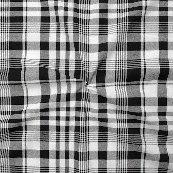"""100% Baumwollstoff """"Cotton Check"""" Farbe Schwarz-Weiss"""