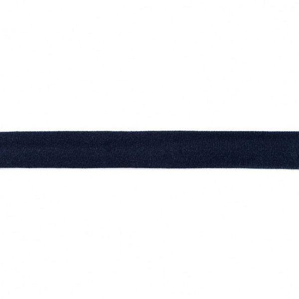 Baumwolljersey Schrägband Breite 20mm Farbe Navy-Blau