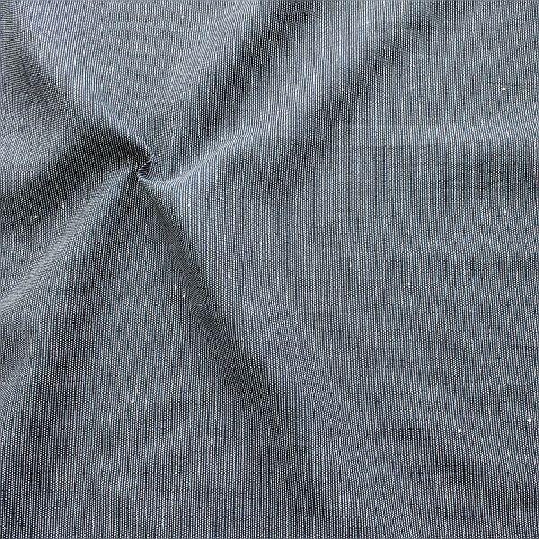 100% Leinen Stoff Fineliner Indigo-Blau Weiss