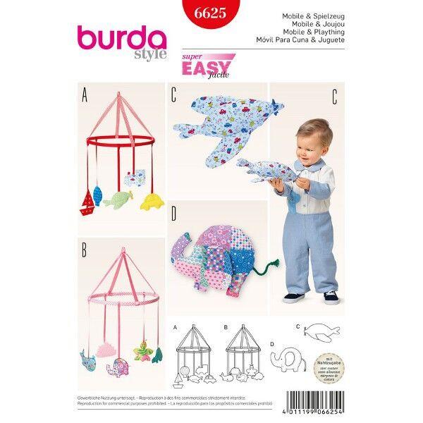 Burda Schnittmuster 6625 Mobile und Stoffspielzeug in zwei Varianten