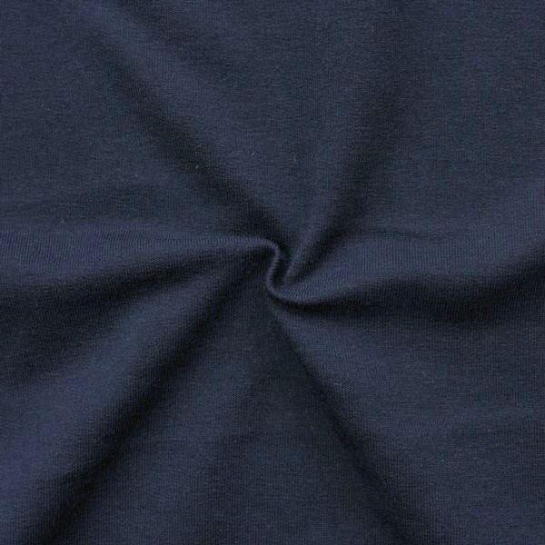 """Sweatshirt Baumwollstoff French Terry """"Fashion Basic 2"""" Farbe Dunkel-Blau"""