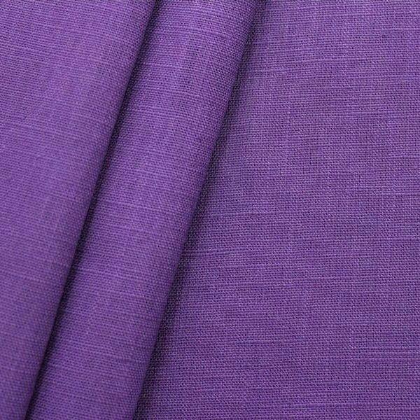100% Leinen Stoff Artikel Girona Farbe Lila