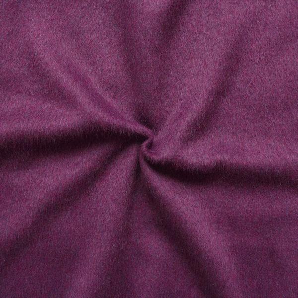 Mantel Flausch Wollstoff Farbe Lila-Violett meliert