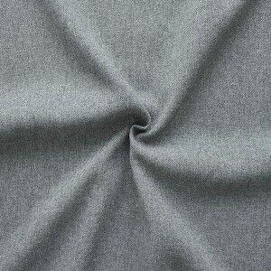 100% Polyester Gabardine Farbe Mittel-Grau meliert