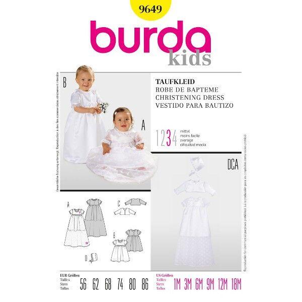 Burda 9649 Schnittmuster für Taufkleid
