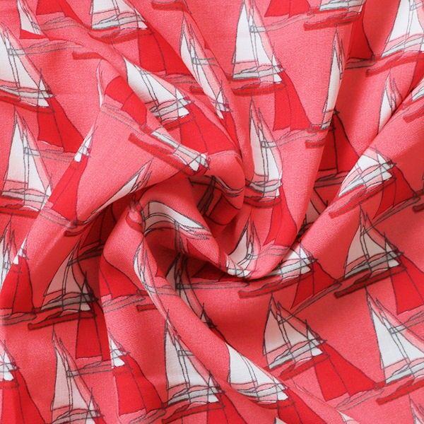 Viskose Javanaise Segeboote Rot