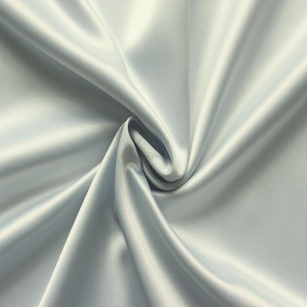Stretch Satin Silber-Grau