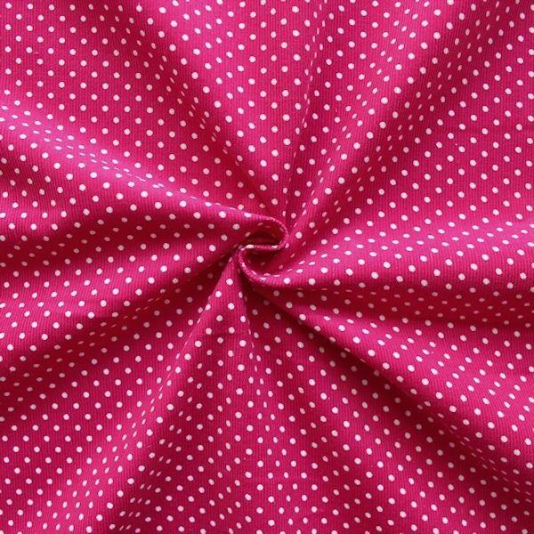"""Feincord Baumwollstoff """"Punkte Klein"""" Farbe Pink"""